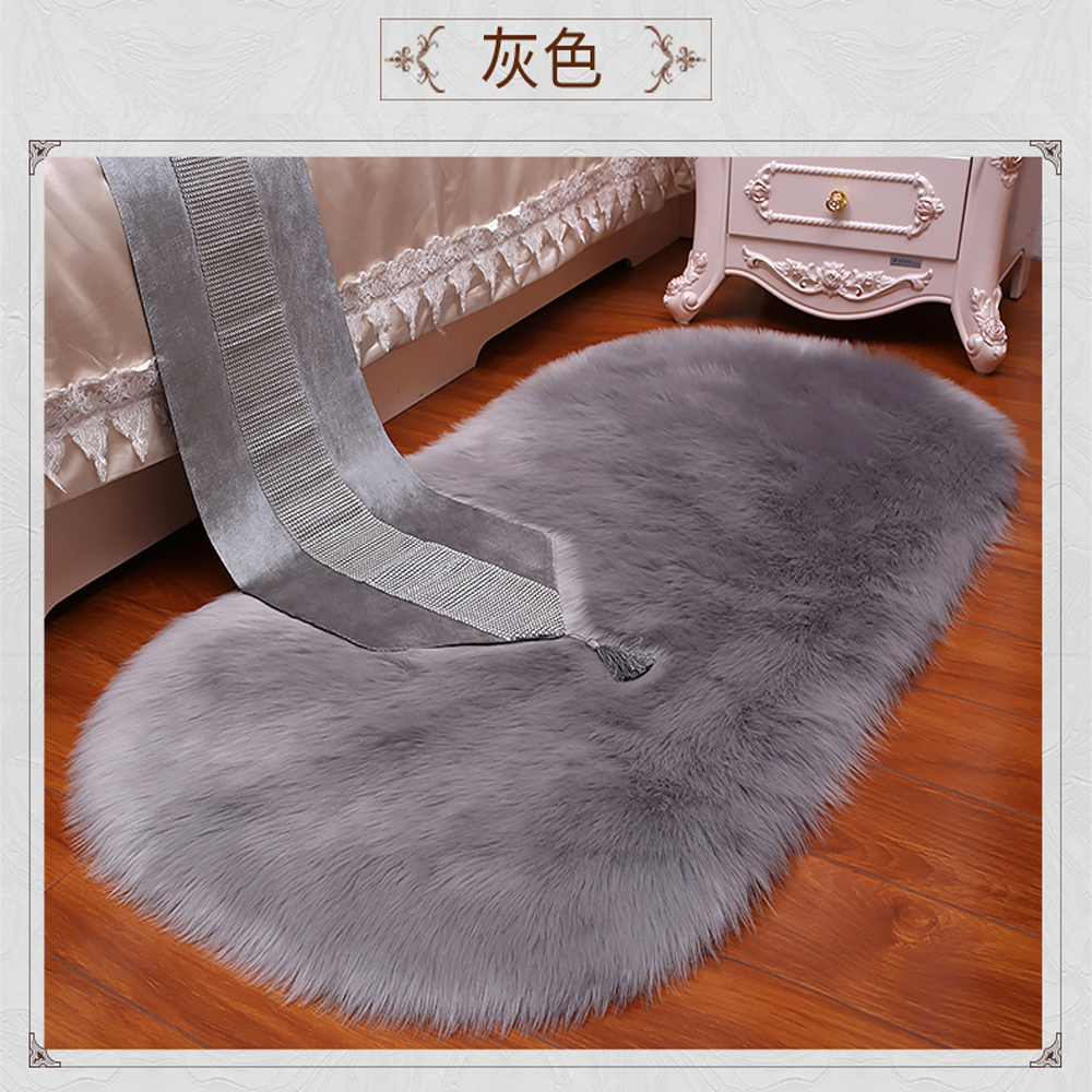 Aliexpress.com : Buy 2018 Oval Faux Sheepskin Blanket Long