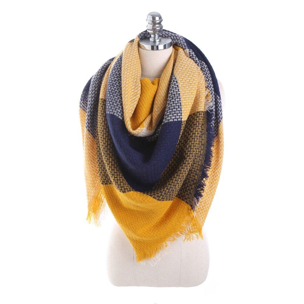 POBING New Winter   Scarf   Women Solid Warm Cashmere   Scarves     Wraps   Oversized Geometric Shawls Pashmina Female Blanket   Scarf