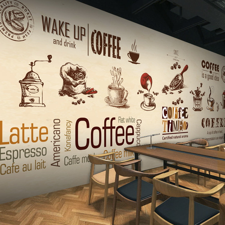 custom stereo 3D photo wallpaper coffee shop restaurant ...