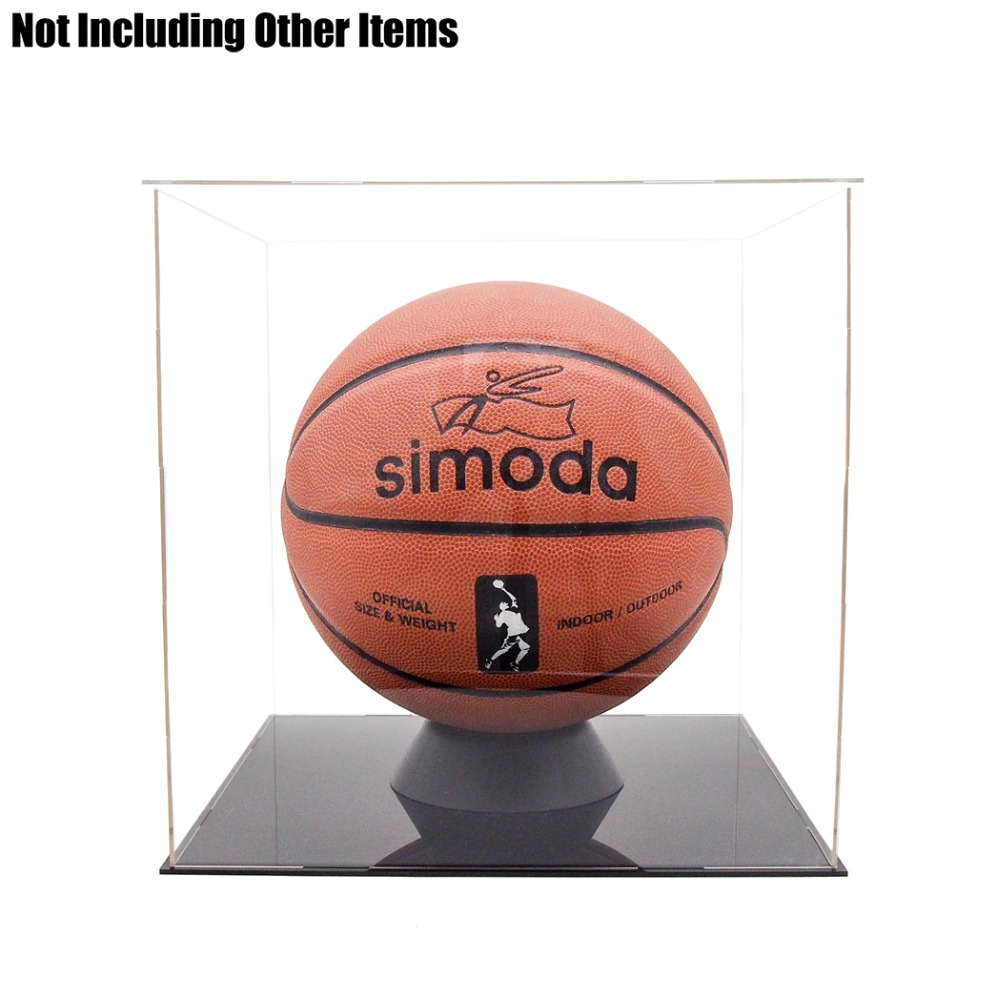 Odoria Acrylic Assembly Display Case Box 30cm 11 8inch Cube Dustproof ShowCase For Football Basketball Boxing
