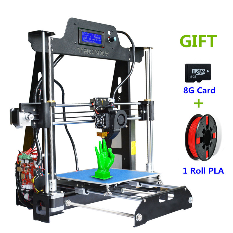 Upgrade New Metal 3D Printer Tronxy T819 DIY kits Direct extruder 3D printing with PLA off line 8G SD card Marlin MK3 heatbed best tronxy p802m auto level 3d printer diy full kits direct extruder mk3 heatbed 3d printing 3dcstar p802 mhs