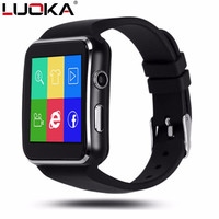 LUOKA Bluetooth Smart Watch X6 Sport Passometer Smartwatch With Camera Support SIM Card Whatsapp Facebook For