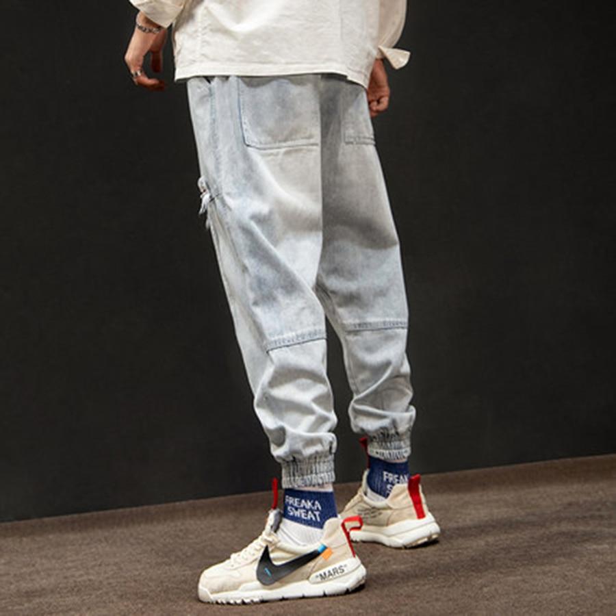 Streetwear Uomo Giapponese Hip Hop 50na72 Casual Cargo Pantaloni Jeans  Salopette Allentato Vintage Larghi Blue Denim Degli Tute E Uomini Dei  U8nnZWPc 3d17d6582d0f