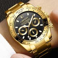 Relojes de acero inoxidable para hombres, relojes de oro de lujo para hombres, relojes de negocios de lujo para hombres, relojes para hombre 2018