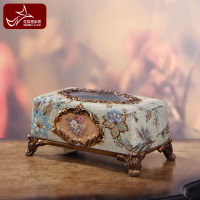 Napkin Paper Box European Style Paper Box Luxury Resin Paper Towel Box Garden Decoration Retro