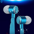 Teamyo Shoelaces Earphones Stereo Metal Deep Bass Earphone Headset Music Sport Earpieces With Mic For iPhone Samsung Xiaomi MP3