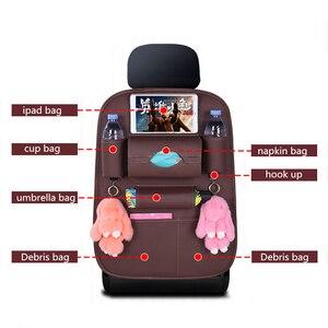 Image 5 - Da PU Sau Ghế Xe Ô Tô túi lưu trữ Đa Năng Ô Tô Xe Ghế Sau Người Tổ Chức Treo túi an toàn trẻ em ghế Đa Năng hộp bảo quản