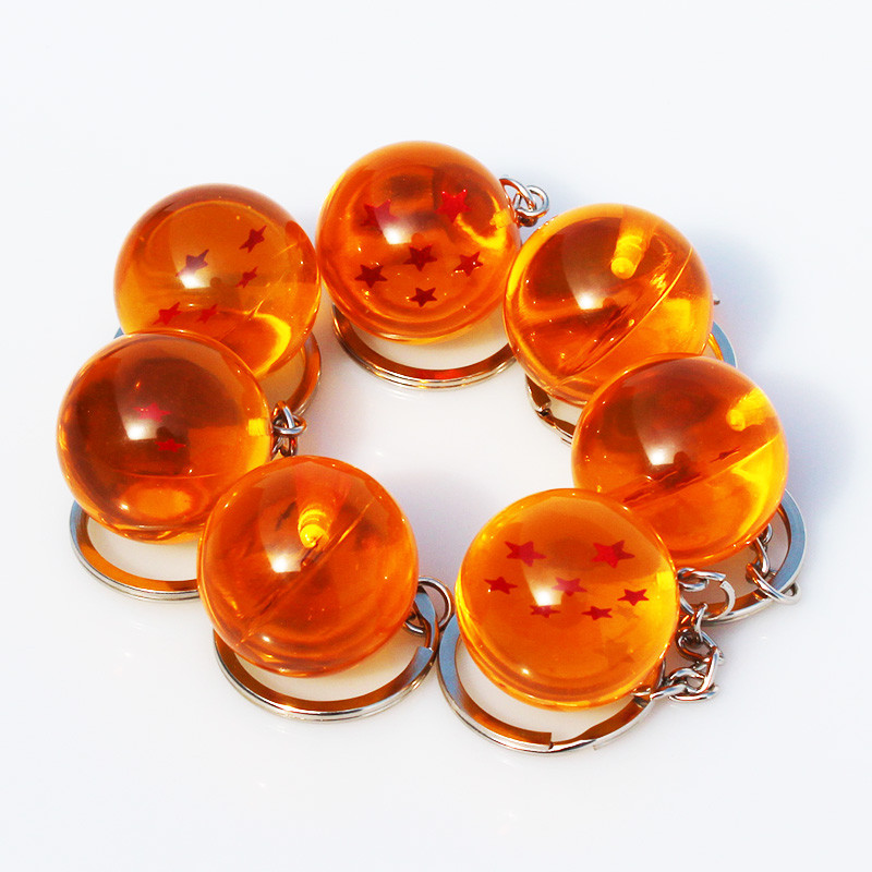 1-7 Star Dragon Ball Keychain