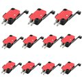 10Pcs Roller Lever Arm Micro Switches Microswitch 15A AC 250V HV- 156-1C25 Low Price