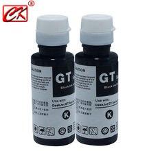 CK 2 pc Black 100ml Refill Ink kit Compatible with HP Office Inkjet 3525 4615 4625 5525 6520 6525 GT5810 GT5820 GT51 GT52