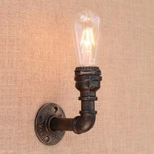 Loft Retro de agua de hierro tubo de pared vintage lámpara de edison led/bombilla led E27 110 v-220 v luces para restaurante café luz nocturna