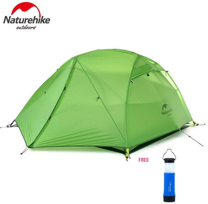 NatureHike 210T/ 20D Silicone Fabric Waterproof Double-Layer 2 Person 4 Season Aluminum Rod Outdoor Camping Tent good quality flytop double layer 2 person 4 season aluminum rod outdoor camping tent topwind 2 plus with snow skirt 3colors