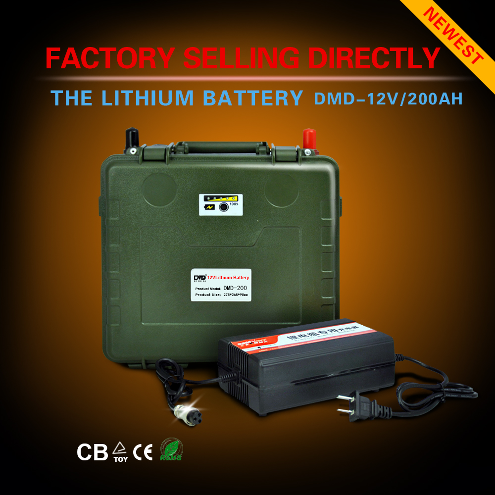 Quick charge ultra light rechargeable inverter battery 200ah 12v for car solar system free shipping