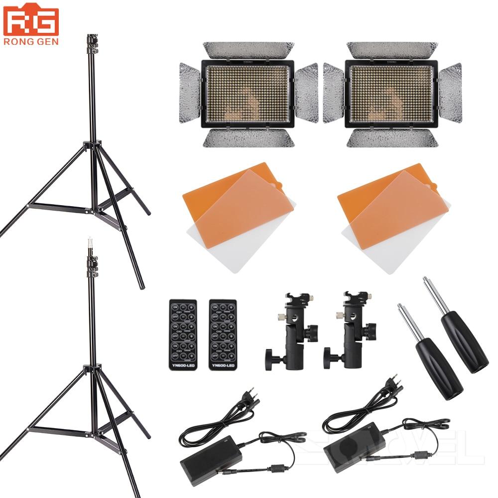 YONGNUO KIT YN600L CRI95 LED Video Light Panel with AC Power Adapter Adjustable 3200K 5500K YN