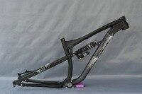2017 Aluminium AL6061 Bicycle Full Suspension Frame 27.5ER Mountain XC Bike Rear Shock Downwill Frames Shaft 142*12mm Disc Brake