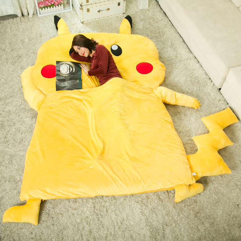 Costume Props Anime Jk Japan Pikachu Tonari No Totoro Psyduck Madara Cosplay Flannel Blanket 1.5*2m Cartoon On Bed Plush Sleep Cover Bedding
