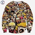 Mr.1991INC Новая мода мужчины череп 3d футболка напечатана зомби толстовки осень топы 3d панк с длинным рукавом пуловеры одежда топы