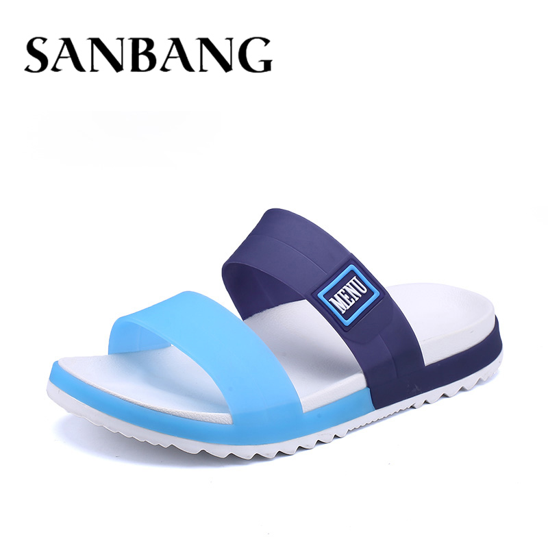 все цены на Fashion Beach Men's Flip Flops Sandals Man Summer Shoes Male Casual Shoes Men Slippers Flats Jelly Shoes Zapatos Hombre ay5