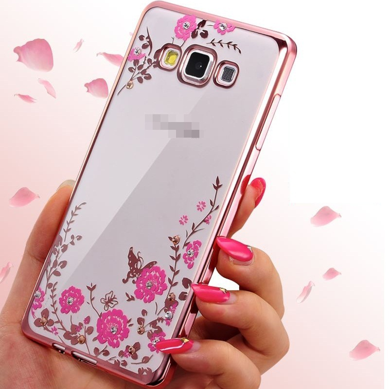 buy popular d7a02 87226 US $4.27  Funda Case For Samsung Galaxy J1 J2 J3 J5 J7 2015 2016 J5 J7  Prime Cover Bling Diamond TPU Soft Flower jelly Electroplate Casing-in  Fitted ...