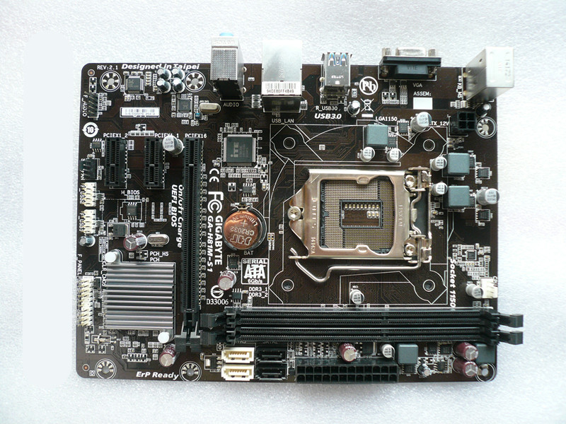 Used original for GIGABYTE GA-H81M-S1 LGA1150 DDR3 H81 motherboard asus original ga h81m hd3 motherboard h81 ddr3