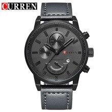 CURREN Marque De Luxe Relogio Masculino Date En Cuir Casual Montre Homme Sport Montres Quartz Militaire Montre-Bracelet Homme Horloge 8217