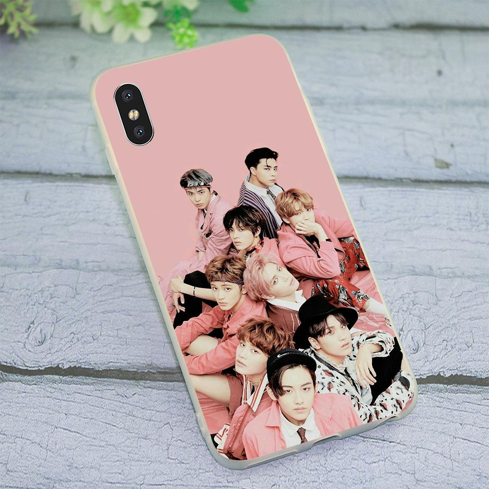 Slim Soft TPU Silicone Cover for iPhone <font><b>5</b></font> <font><b>127</b></font> DREAM KPOP Phone Case for iPhone 5S SE 6 6S Plus 7 8 X Xs Max XR Cases image