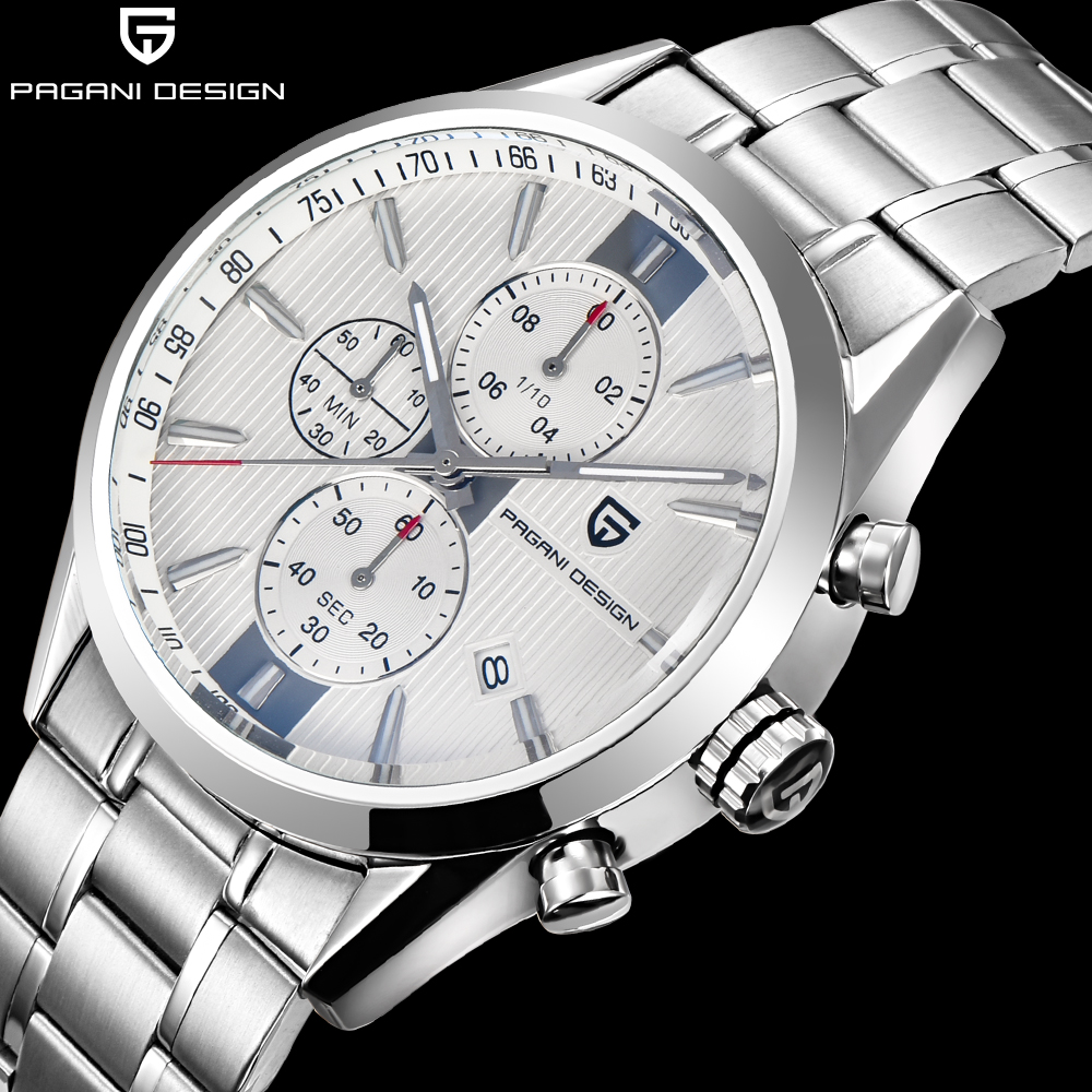 PAGANI Mens Dress Wristwatches Brand Luxury simple steel band business men quartz-watch waterproof fashion chronograph clock man onlyou brand luxury fashion watches women men quartz watch high quality stainless steel wristwatches ladies dress watch 8892