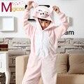 Niños Niños Franela Onesies Lindo Animal de la Historieta Pink Pig Pijamas Del Partido de Cosplay Traje Gils Niños Pijamas Pijamas ropa de Dormir