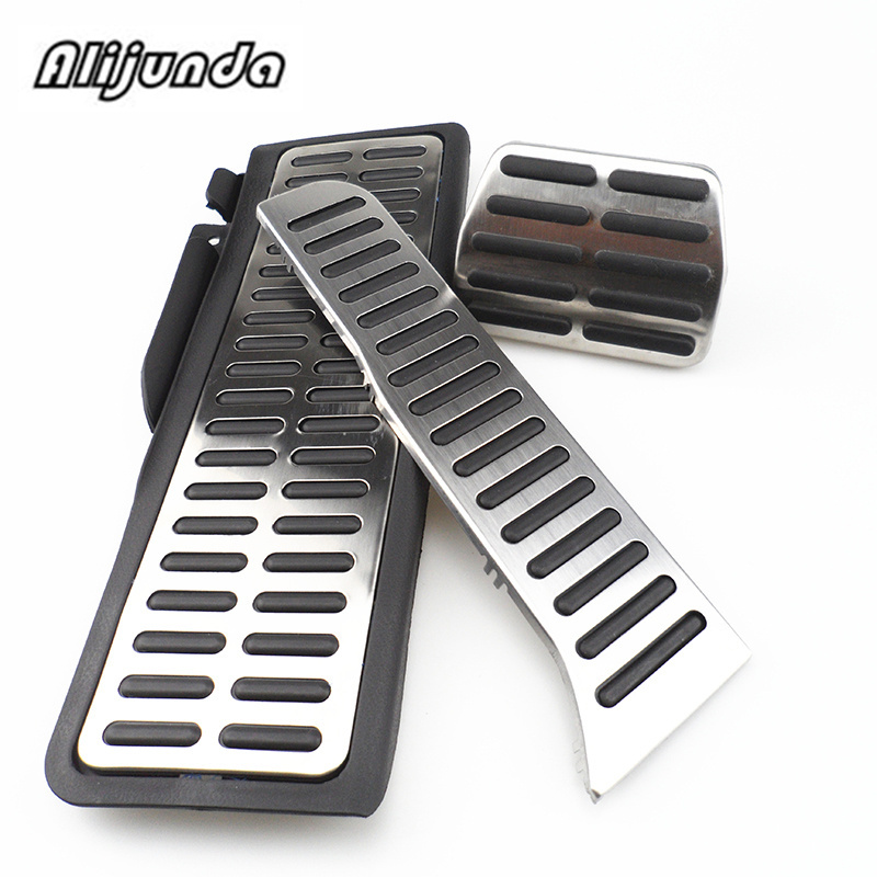 Stainless Vehicle Accelerator Gas Brake Pedal Clutch Pedal for volkswagen vw golf 5 6 mk5 mk6 Octavia Jetta MK5 MK6 Scirocco CC|pedal brake pedal|pedal pedales|pedal volkswagen - title=