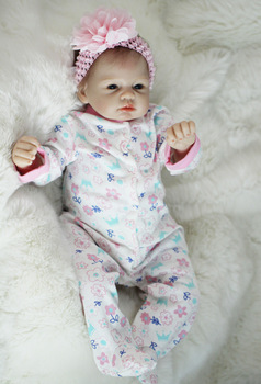 silicone reborn baby soft body With Cotton 22'' npk Realistic Doll Reborn Babies cute 55 cm bebe Growth Partner cheaper Juguetes 22 inch babies reborn silicone collection bebe reborn the silicone girl body bebe reborn doll pp cotton body reborn babies