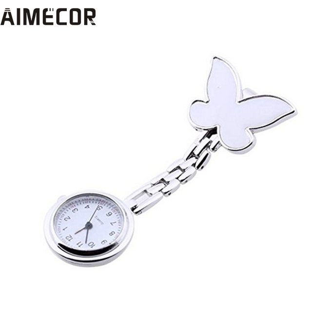 Aimecor Fashion Floral Nurse Clip-on Fob Brooch Pendant Hanging Pocket Watch Dro