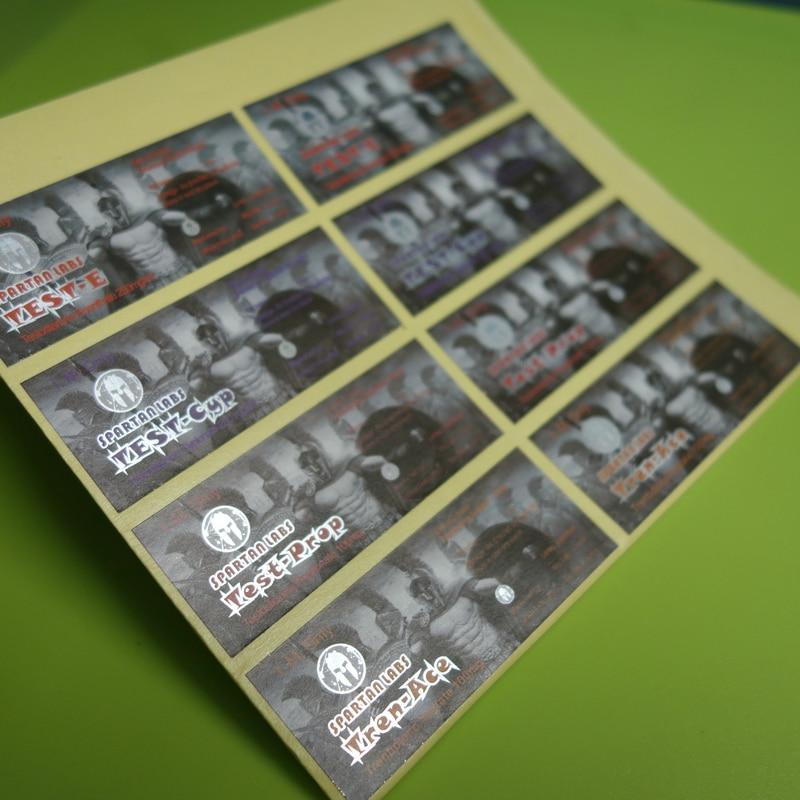 Купить с кэшбэком custom design waterproof small silver hologram 10ml vial Steriod labels stickers