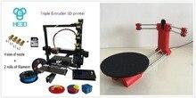 Set venta, Nuevos prusa I3 HE3D EI3 tricolor impresora 3D kit diy, añadiendo sourse abierta ciclop escáner 3D kit DIY