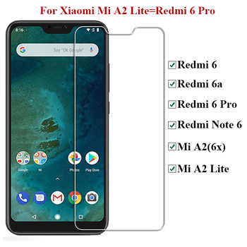 10pcs /lot Tempered Glass For Xiaomi Redmi Note 6 Pro Mi A2 Lite 6 Glass 9H Film Screen Protector For Xiomi Redmi 6a 6 Pro Glass