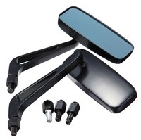 Rectangle Motorcycle Rear View Mirrors Motorbike Bike Universal 8mm10mm Black