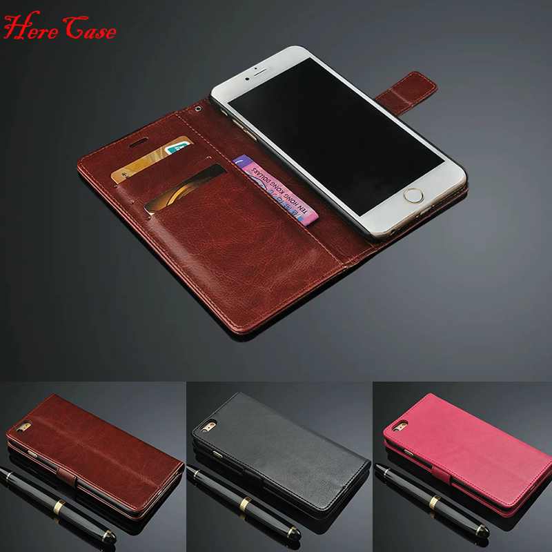 For <font><b>iPhone</b></font> 7 <font><b>Cases</b></font> <font><b>5s</b></font> 6s plus 5 SE <font><b>Case</b></font> Flip Wallet <font><b>Genuine</b></font> <font><b>Leather</b></font> Cover For <font><b>iPhone</b></font> X 6 Cover Stand Function 3 Card Holder image