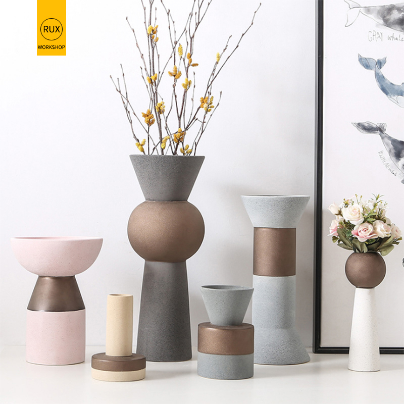 Matte Coarse Sand Appearance Vases For Flowers Vase Decoration Home For Weddings Artificial Flowers Big Medium Small