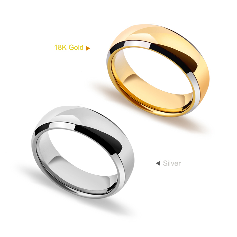 Famous Silver/Gold Two Colors 8mm Tungsten Men's Rings Mirron Polished Dome Band Size 7 8 9 10 11 12 Free Shipping детская кожаная обувь benboy 14100 7 8 9 10 11 12 13 2015