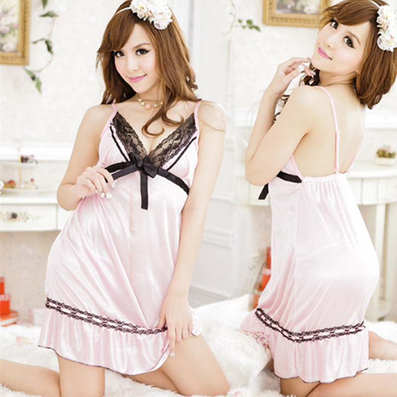 Women's Summer Sexy   Nightgown   Sleeveless Bathrobes Womens Nightdress Silk Lingerie Home Clothes Sexy Sleepwear   Sleepshirt