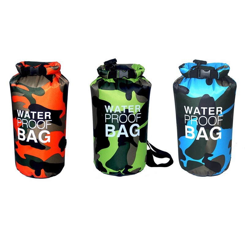 10L 15L Outdoor Sports Swimming Waterproof Bag Camping Rafting Diving Storage Dry Bag with Adjustable Strap Hook