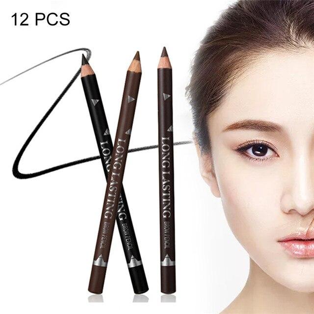 12PCS Eyebrow Pencil Waterproof Sweat proof Beginners Long lasting ...