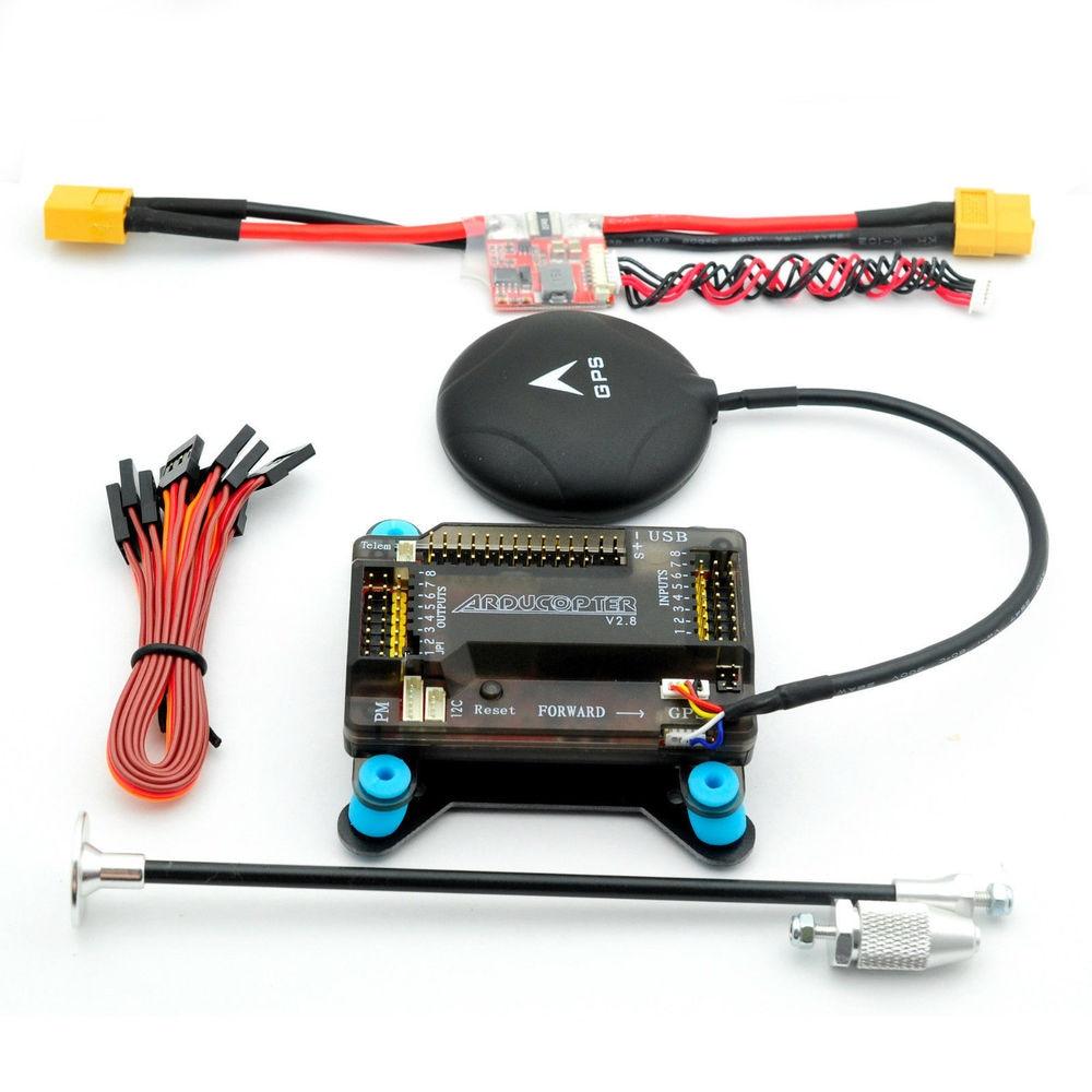APM 2.8 Flight Controller w/ Shock Absorber NEO 6M GPS 5V 3A Power Module XT60 flight fcmb 5