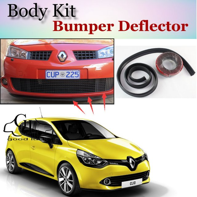 US $25 14 30% OFF|Bumper Lip Deflector Lips For Renault Clio / Lutecia  Front Spoiler Skirt For TopGear Fans Car Tuning View / Body Kit / Strip-in