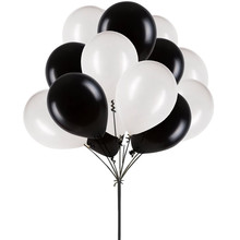 50 pcs 12inch Black and White Balloons, Latex Balloons for Birthday Party Wedding Decorations Romantic