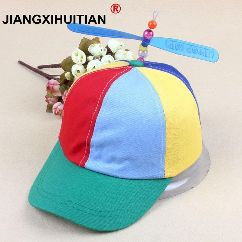 2017 summer child new Parent-child folded bamboo dragonfly bone windmill Cotton Baseball Cap Snapback Hat Casual Hat Wholesale