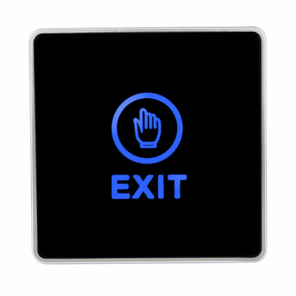 Generic DC 12V NC NO Release Button Switch Square Touch Sensor Door Exit with LED Light For Access Control System F1742A
