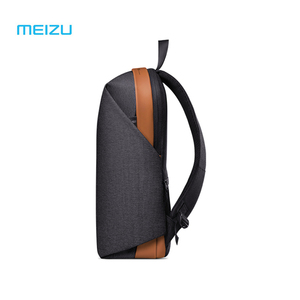 Image 2 - الأصلي Meizu الظهر حقيبة ظهر مدرسية مقاومة للماء موجز نمط سعة كبيرة طالب حقائب الكمبيوتر المحمول لباد ماك بوك حقيبة