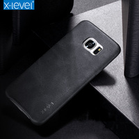X Level Vingate PU Leather Case For Samsung Galaxy S6 S7 Edge Luxury Back Case For
