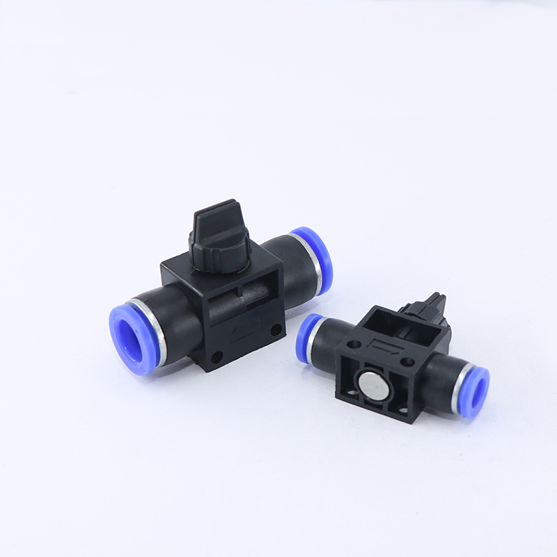 Pneumatic hand valve HVFF 6mm 8mm 10mm 12mm O.D AirFlow Speed limit Control Valve pneumatic cylinder quick Connector fitting