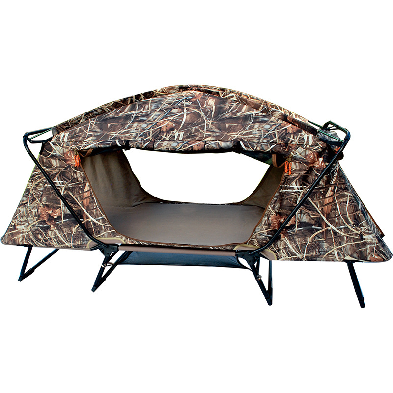 Professional outdoor camouflage tents ground hunting fishing tents multi-function double folding deck chair manufacturers.